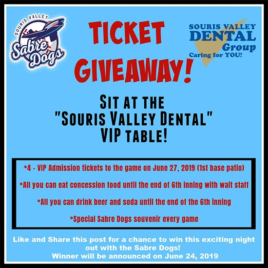 Sabre dogs ticket give away